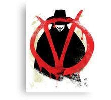Pop Grunge: V Canvas Print