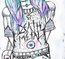 Death Metal Maiden Sticker