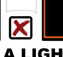 Use a lighter in case of ballad Sticker