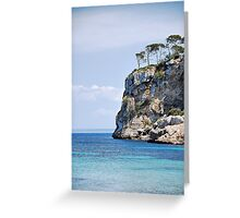 Wind blown cliff top trees... Greeting Card