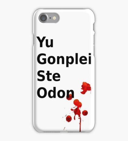 Yu Gonplei ste odon blood iPhone Case/Skin