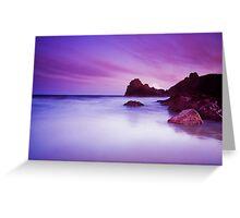 Kynance Cove, Cornwall at sunset Greeting Card