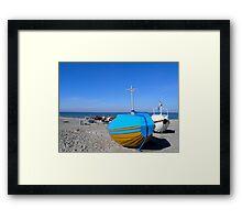 Small fishing boats Framed Print