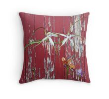 Longicordia Orchid with Red Paint Throw Pillow