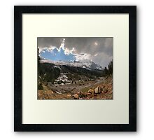 Along the valley Framed Print