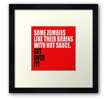 some zombies... Framed Print