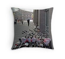 Walk Or Ride A Bike  Throw Pillow