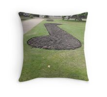 Big Music Note Throw Pillow