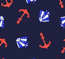 Summer marine pattern  by ViShenca