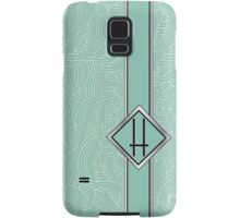1920s Blue Deco Swing with Monogram letter H Samsung Galaxy Case/Skin