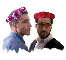 lito and hernando with flower crown by athelstan