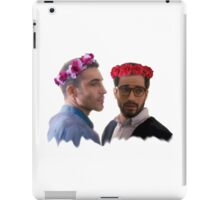 lito and hernando with flower crown iPad Case/Skin