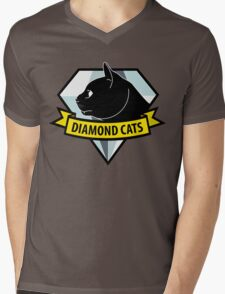 Diamond Cats Mens V-Neck T-Shirt