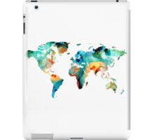 Map of The World 11 -Colorful Abstract Art iPad Case/Skin