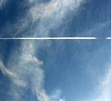 Jet Stream in a Blue Sky by molicophoto