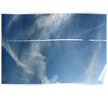 Jet Stream in a Blue Sky Poster