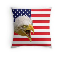 The Flag and the Eagle Throw Pillow