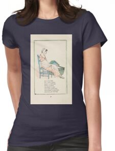 Mother Goose or the Old Nursery Rhymes by Kate Greenaway 1881 0042 Rock a Bye Baby Womens Fitted T-Shirt