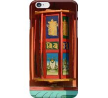 Tibetan prayer wheels iPhone Case/Skin