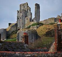 Corfe Castle, Dorset, England by Laura Cooper