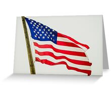 Red White & Blue American Flag Greeting Card