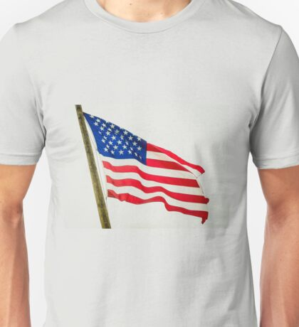 Red White & Blue American Flag Unisex T-Shirt