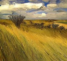 Iowa Prairie Grasses by Randy Sprout
