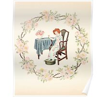 Mrs Leicester's School Charles & Mary Lamb with Minifred Green 18xx 0102 Needlework Poster