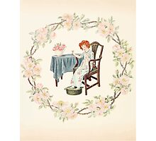 Mrs Leicester's School Charles & Mary Lamb with Minifred Green 18xx 0102 Needlework Photographic Print