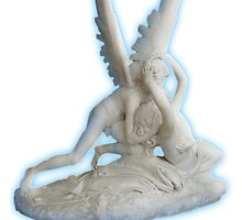Cupid's Kiss, Love, Embrace, Angel, Sculpture, Hermitage, Art gallery, Russia by TOM HILL - Designer
