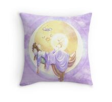 Silence and Blessed Sleep Throw Pillow
