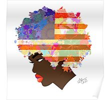 American Flower 'Fro  Poster
