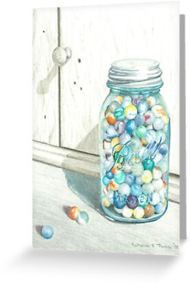 Marble Jar by Katherine Thomas