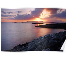 Last Light Over Eigg Poster