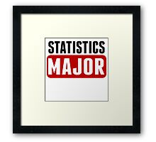 Statistics Major Framed Print