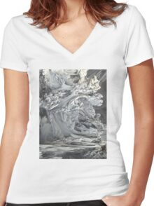 ABSTRACT 3 Women's Fitted V-Neck T-Shirt