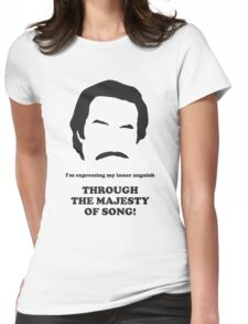 Ron Burgundy - Majesty of Song Womens Fitted T-Shirt