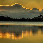 Molten Gold - Narrabeen Lakes,Sydney (Panoramic) -The HDR Experience by Philip Johnson