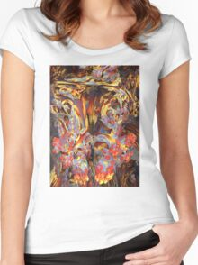 Abstract 4 Women's Fitted Scoop T-Shirt