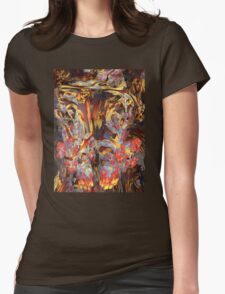 Abstract 4 Womens Fitted T-Shirt