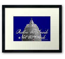 U.S. Capitol: Restore the Inside, Not the Outside Framed Print