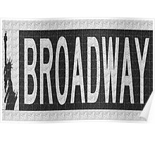 BROADWAY DECO SWING NYC Street Sign  Poster