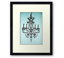 Tiffany Blue Chandelier Framed Print
