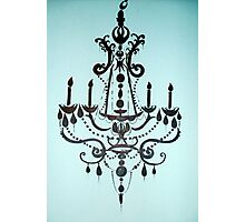 Tiffany Blue Chandelier Photographic Print
