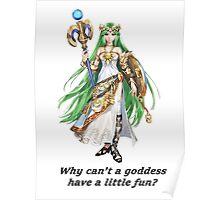Kid Icarus - Lady Palutena Poster