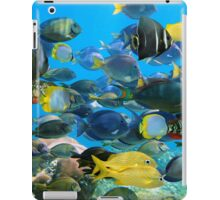 Colorful tropical fish schooling iPad Case/Skin