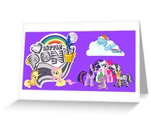 My Little Pony zebra purple Greeting Card