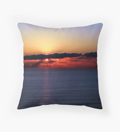 Colorful Cloudy Sunrise Throw Pillow