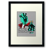 Thresh - SHUT UP AND TAKE MY LANTERN Framed Print