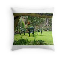 Garden in Stow on the Wold Throw Pillow